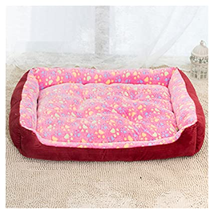 Warm Corduroy Padded Dog Bed Waterproof Washable Pet House Mat Perros Soft Sofa Kennel Dogs Cats