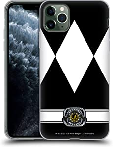 Head Case Designs Officially Licensed Power Rangers Black Ranger Retro Costumes Soft Gel Case Compatible with Apple iPhone 11 Pro Max