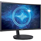 Samsung 23.5 inch (59.8 cm) Curved Gaming LED Backlit Computer Monitor - Full HD, VA Panel with VGA, HDMI, DP, Audio Ports - LC24FG70FQWXXL (Black)
