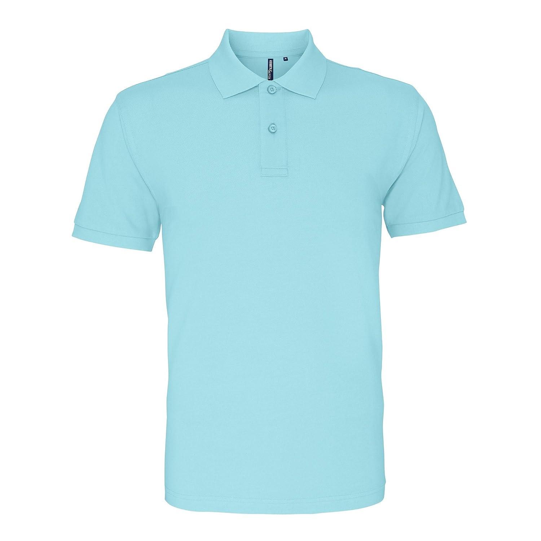 41ee689b Asquith & Fox Mens Plain Short Sleeve Polo Shirt (XL) (Natural):  Amazon.co.uk: Clothing