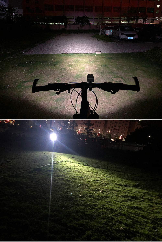 ALFLASH Bike Light Set USB Rechargeable LED Headlight Taillight Combinations Waterproof Bicycle Front Light Back Light Set Combination 1