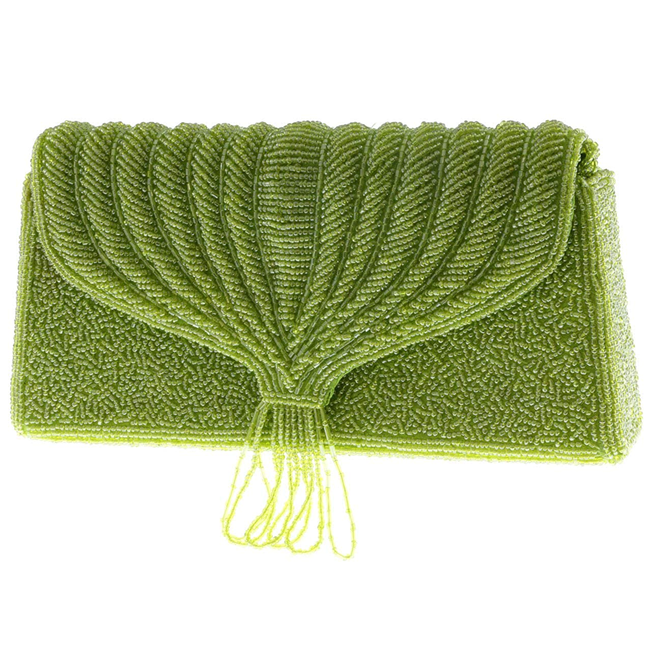 59ebf261eb Mi Amore Clutch-Purse Green/Silver-Tone: Handbags: Amazon.com