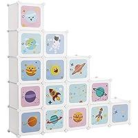 SONGMICS Armario Modular Infantil de 16 Cubos, Organizador