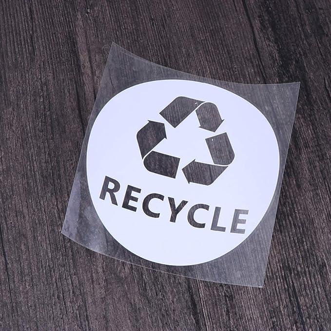Cabilock 4 Pezzi ricicla Adesivi Simbolo PVC Adesivo ricicla Etichette Adesivi Decalcomanie per bidoni della Spazzatura Cestino Auto Camion Finestra