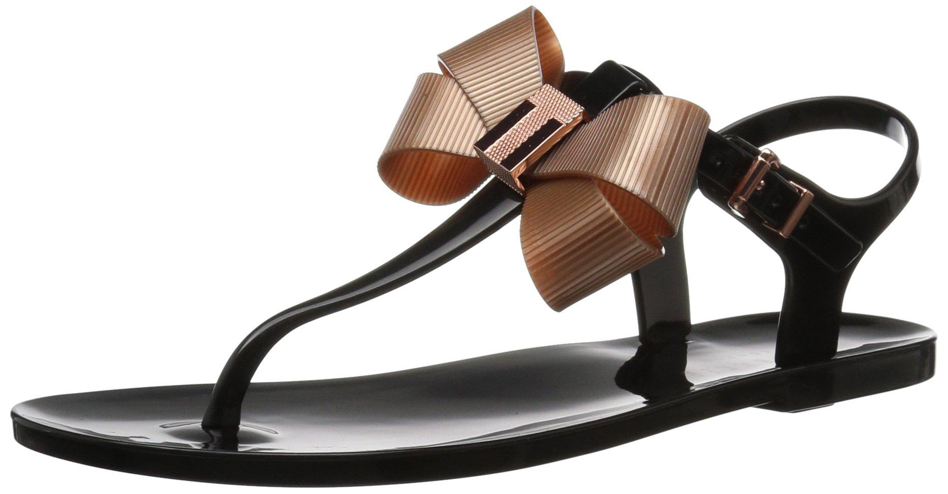Ted Baker Women's Camaril Sandal, Black, 9 B(M) US