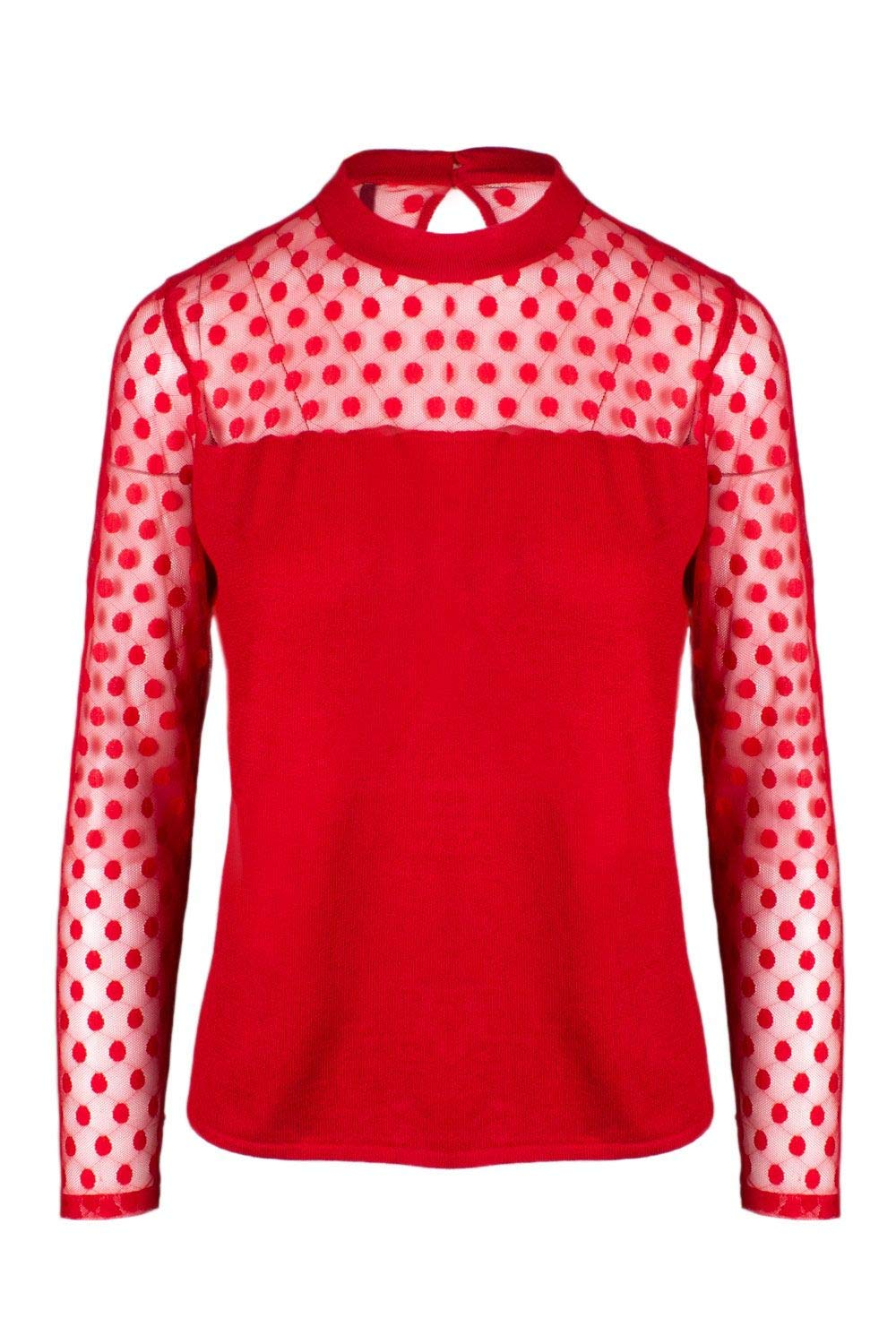 Only Women's 15168913RED Red Viscose Jumper