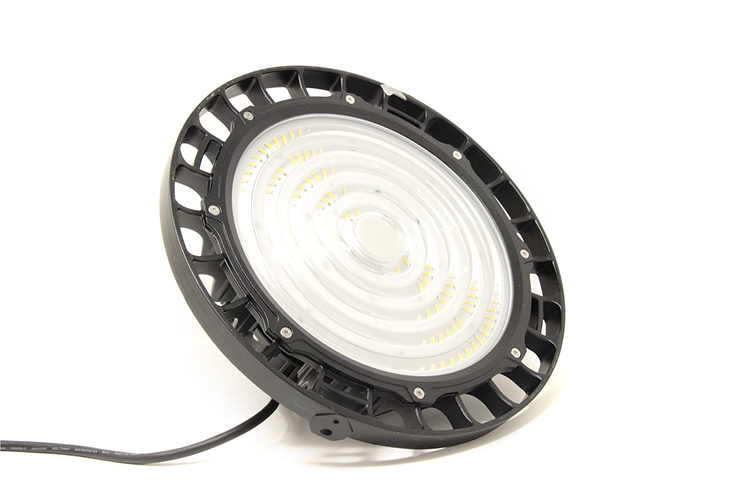 FactorLED Campana industrial LED UFO 100W Chip Brigdelux 3030-3D 150lm/w Dimable TRIAC Iluminación industrial ideal para naves industriales IP65, ...