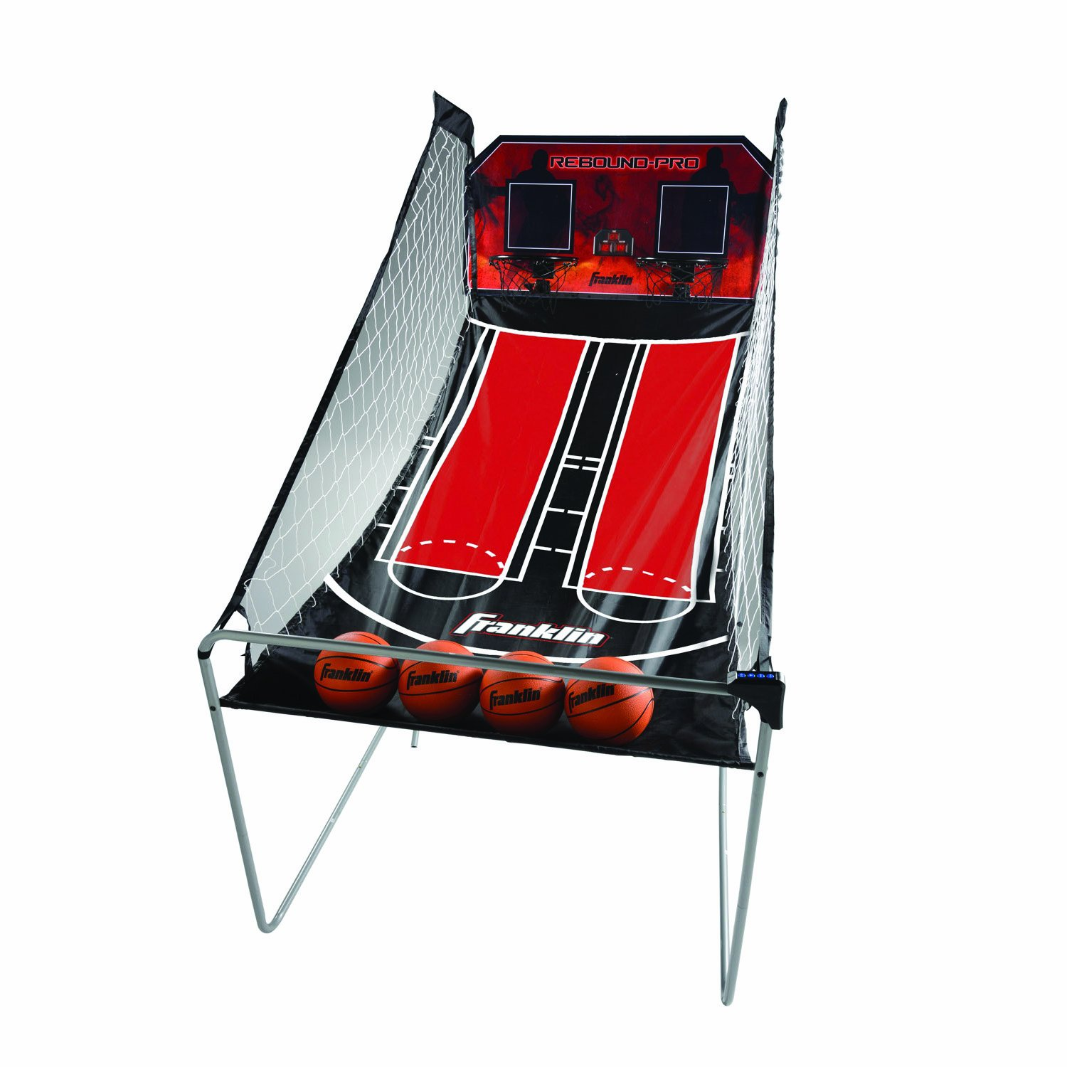 Franklin Sports Arcade Basketball - Indoor Basketball Shootout - 2 Players - Includes Electronic Scoreboard and 4 Mini Basketballs by Franklin Sports