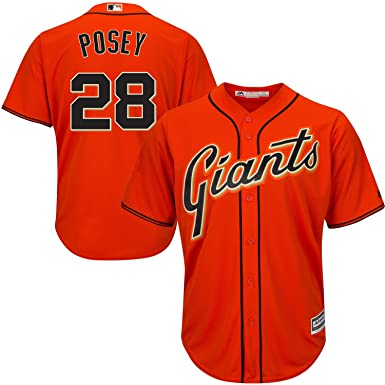 big sale a68cc ffb6f Amazon.com: Buster Posey San Francisco Giants Orange Kids ...