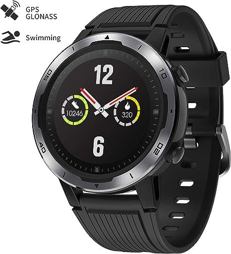 GRDE GPS Smartwatch, Reloj Inteligente Deportivo 5ATM Pantalla ...