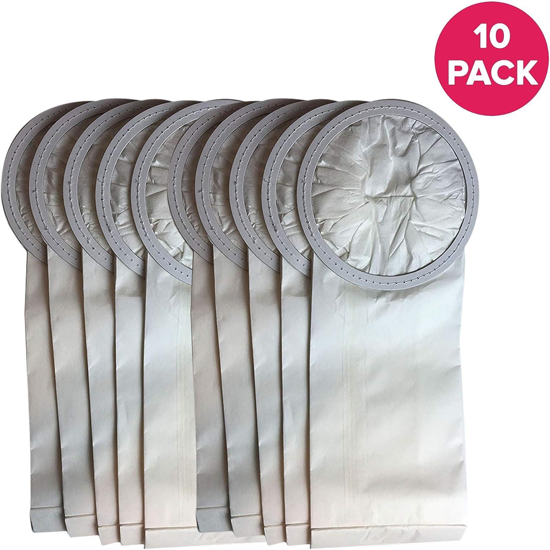 Crucial Vacuum Replacement 6 QT Vac Bags Part # PKBP10 - Compatible with Oreck Models XLPRO6, XLPRO6A, XLPRO6Z, OR1006 - Commercial Backpack 6-Quart Vacuum Bags - Disposable Debris Bag (10 Pack)