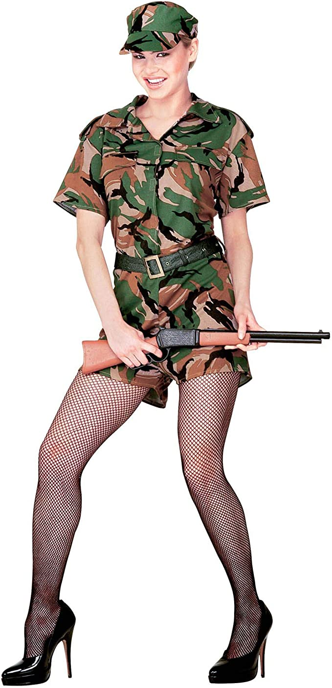 WIDMANN Army - Disfraz de Soldado Militar para Mujer, Talla 42 ...
