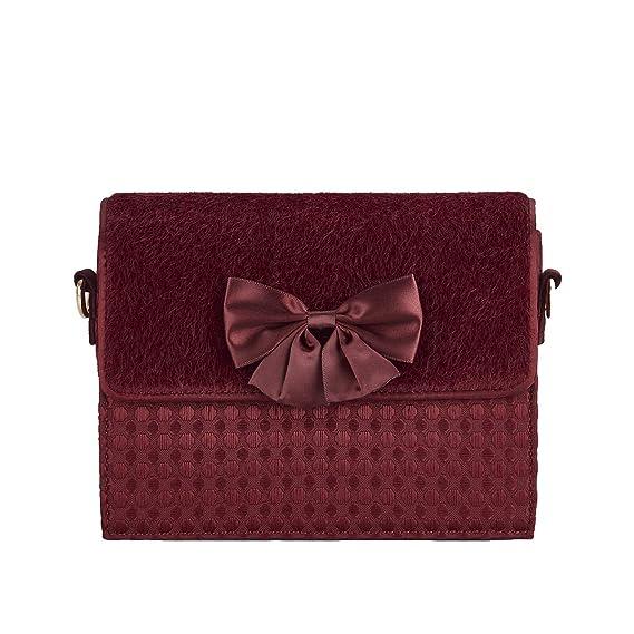 Ruby Shoo Womens Burgundy Mandalay Chain Strap Clutch Bag