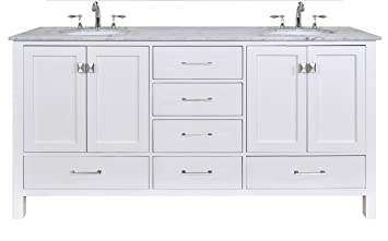 Best White 72 Double Sink Bathroom Vanity