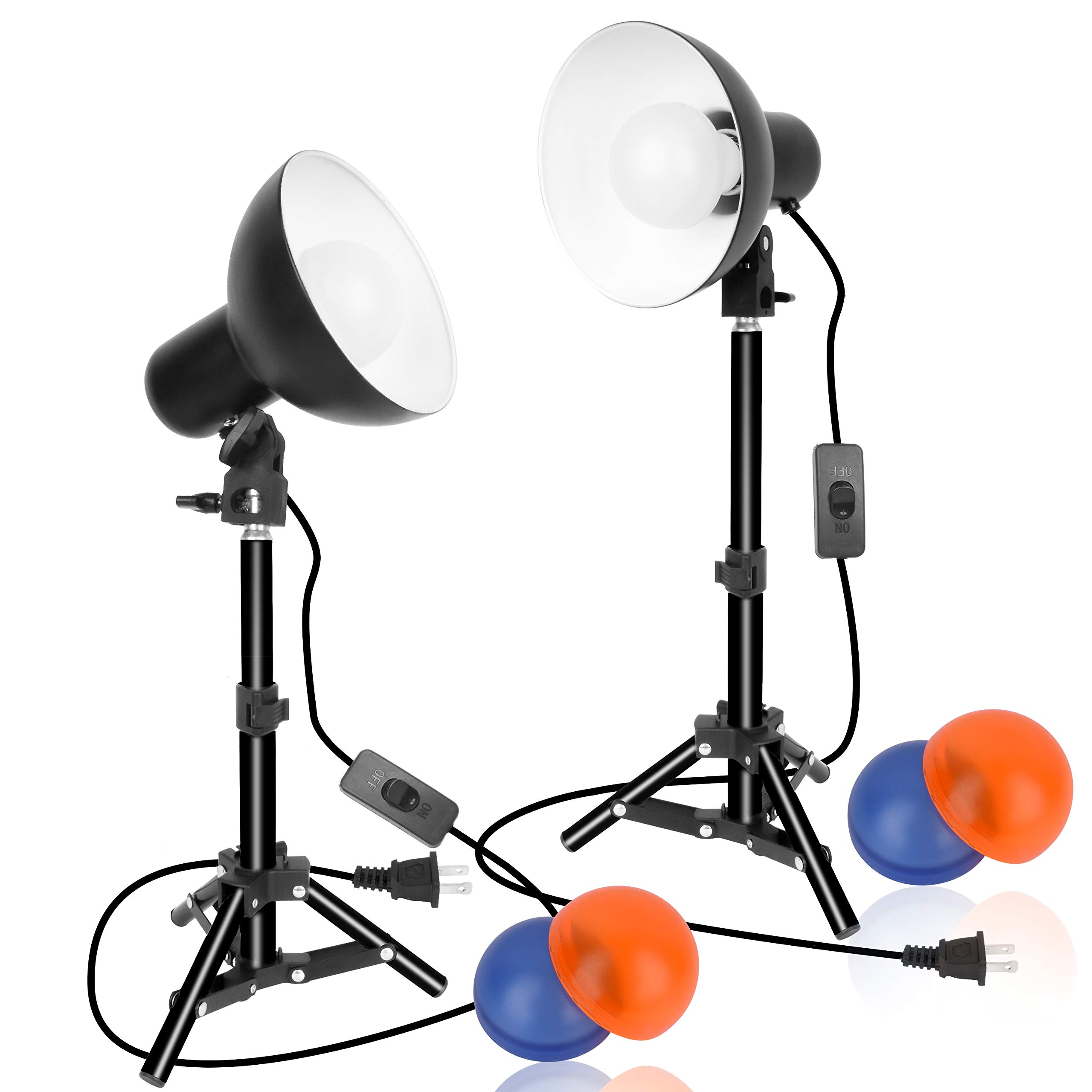 Emart 2 x 15W Table Top Photography Studio LED Lighting Kit with Light Stand Tripod by EMART