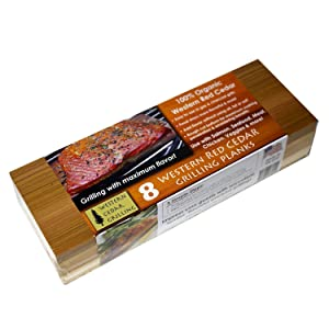 8 Cedar LONG Grilling Planks (10 PACK - 8 + 2 BONUS Short planks!) - Perfect for SALMON, FISH, STEAK, VEGGIES and more. MADE IN USA! Re-use several times. FAST soaking.