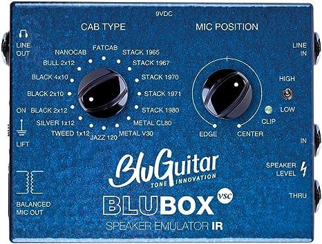 bluguitar blubox Virtual Speaker Collection Caja DI