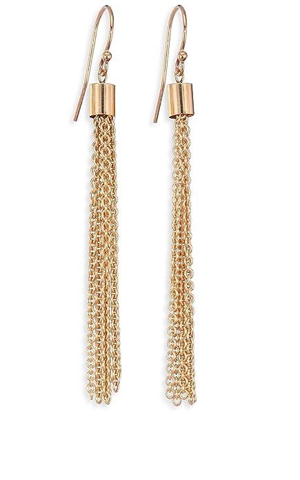 f5a8cfd2f04cc Michelangelo Golden Chain Tassel Earrings For Women/Girls