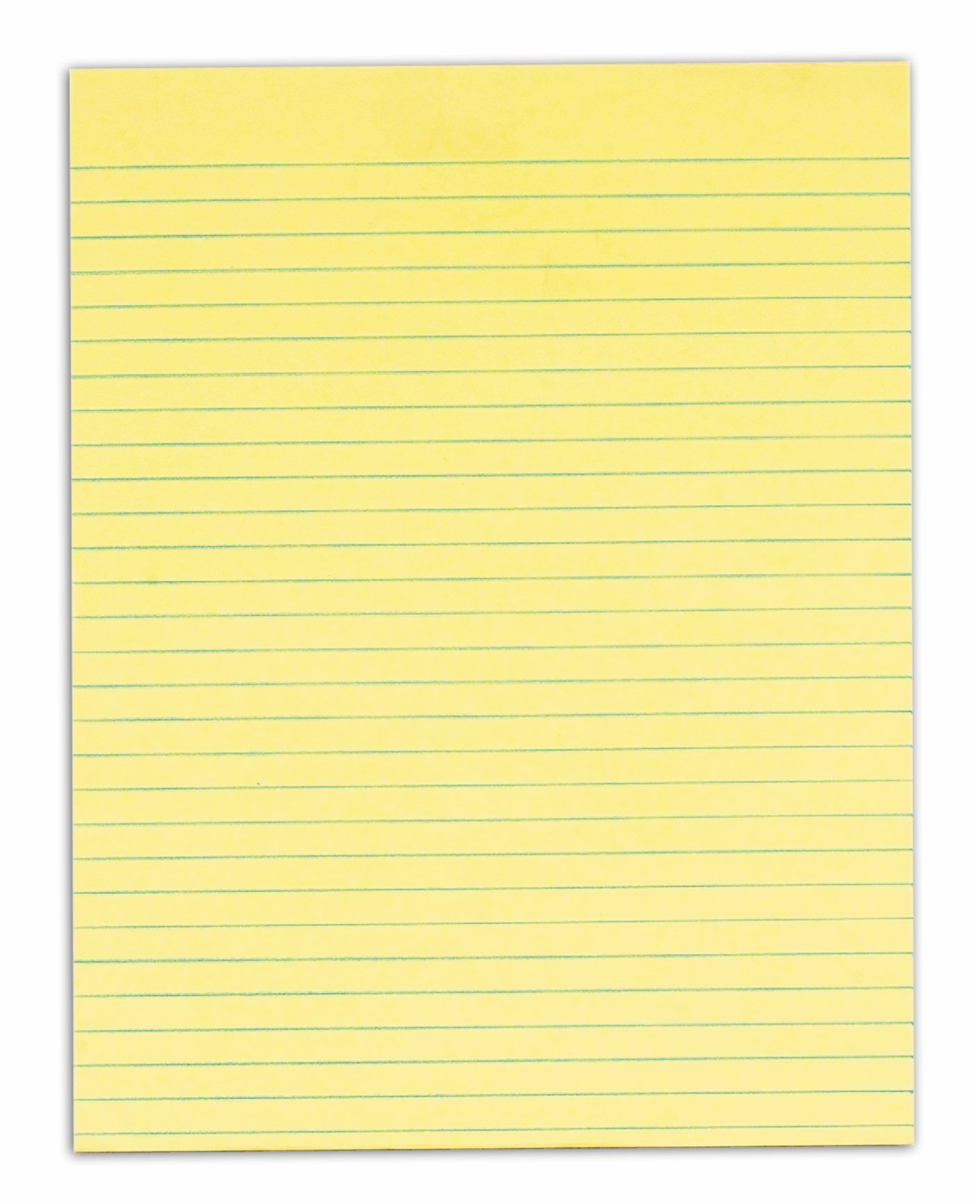TOPS Second Nature 100% Recycled Legal Pad, 8-1/2 x 11 Inches, Gum-Top, Canary, Legal/Wide Rule, 50 Sheets per Pad, 12 Pads per Pack (74860)