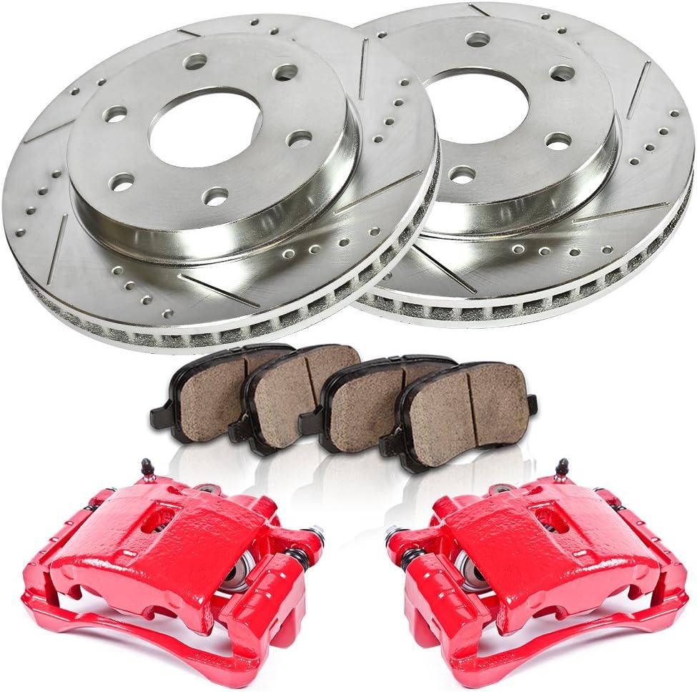 Ceramic Brake Pads FRONT 4 Callahan CCK04145 Hardware Brake Kit REAR Premium Original Calipers