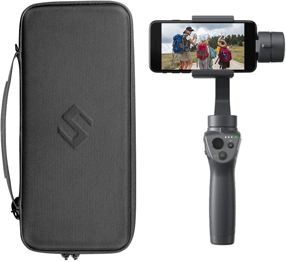 Scootree Osmo Mobile 2 Travel Carrying Case Compatible for DJI Osmo Mobile 2 Handheld Gimbal,Portable Hard Osmo Mobile 2 Storage Bag