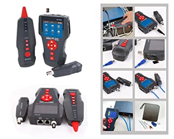 Kalea Informatique - Medidor profesional para red RJ45 RJ11 USB BNC: Teste la longitud/