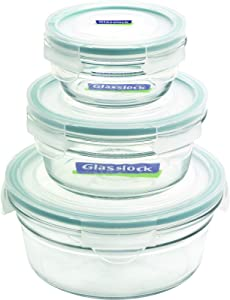 Glasslock 11343 6-Piece Round Oven Safe Container Set