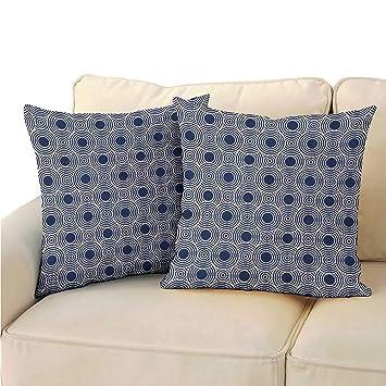 Amazon.com: Ediyuneth - Fundas de almohada estándar azul ...