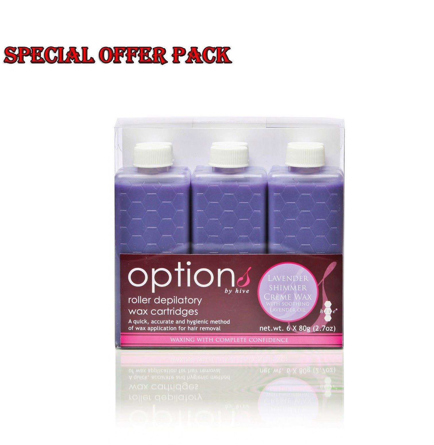 Hive Beauty Depilatory Lavender Shimmer Cartridge Roller Wax Creme CODE: HOB6612P