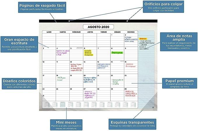 Calendario de Pared 2020 de SmartPanda – Calendario Mensual de ...