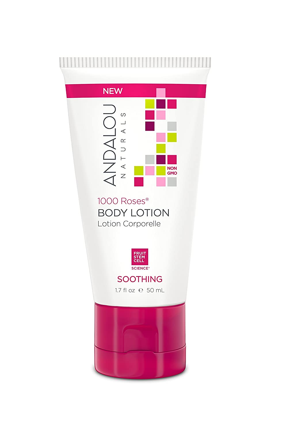 Andalou Naturals 1000 Roses Soothing Body Lotion, 1.7 fl. Oz. Manufacturer 90670