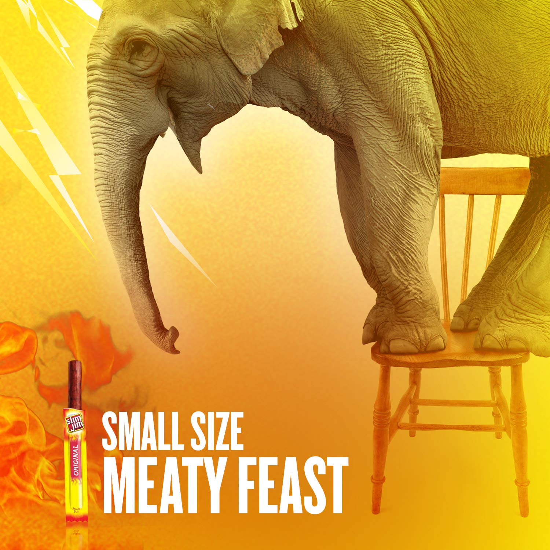 Slim Jim Snack-Sized Smoked Meat Stick, Original Flavor, Keto Friendly, .44 Oz. (Pack of 100) by Slim Jim (Image #4)