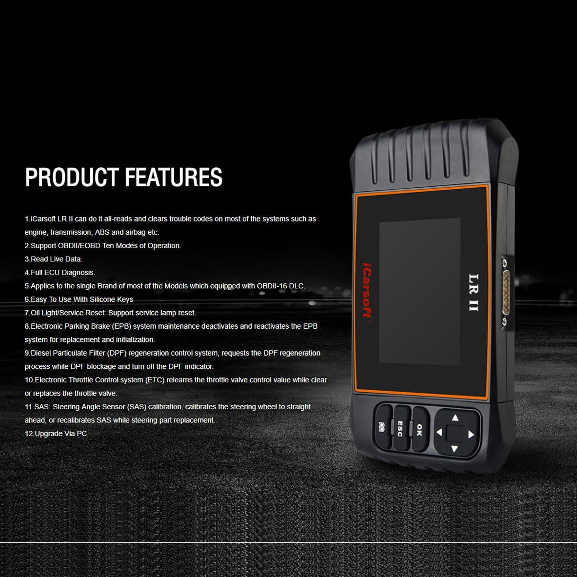iCarsoft LR II Outil de Diagnostic Automobile
