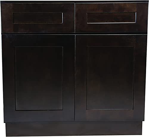 Design House Brookings 42-Inch Base Cabinet, Espresso Shaker