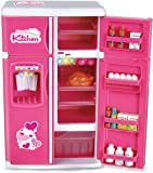 Liberty Imports Dream Kitchen Fridge Playset With Play Food, Pink