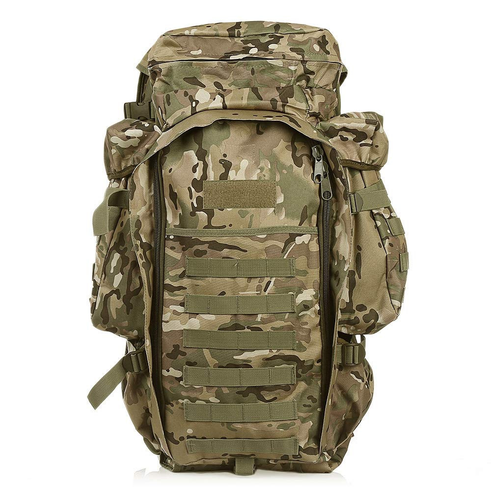 Color:Camuflaje DE LA Selva XXIAZHI,Mochila Militar al Aire Libre del Paquete de la Mochila 60L para la Caza Que Tira el Acampar Que emigra Que Camina Que viaja