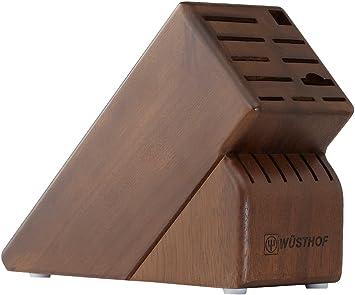 wusthof 17 slot storage block walnut