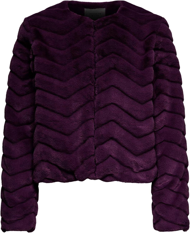 JACQUELINE de YONG JDYEVAN Short Fake Fur Jacket OTW QIQ Chaqueta Mujer Pelo