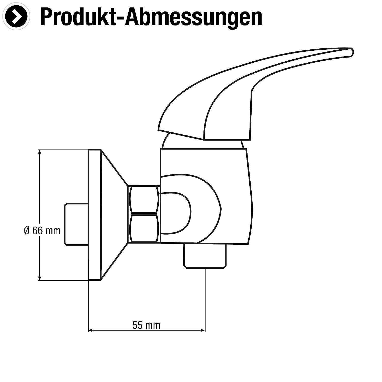 Hochwertiger Messingk/örper Schwenkbarer Auslauf // Hochdruck-Armatur // K/üchenarmatur // Wasserhahn // SA843 verchromt CON:P Sp/ültisch-Einhebelarmatur Piccolo