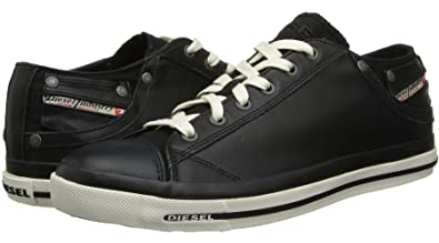 Image Unavailable. Image not available for. Color  Diesel Exposure Low I  Black White Leather Mens New Trainers Shoes Boots bec9748ebfa