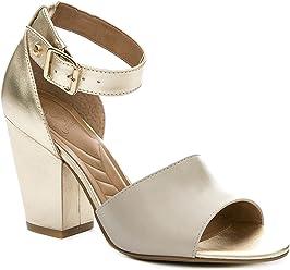 VELEZ Women Genuine Colombian Leather Chunky heel Sandals | Sandalias de Cuero