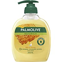 Palmolive Naturals Liquid Hand Wash Soap Nourishing Milk and Honey Pump 0% Parabens Recyclable, 250mL