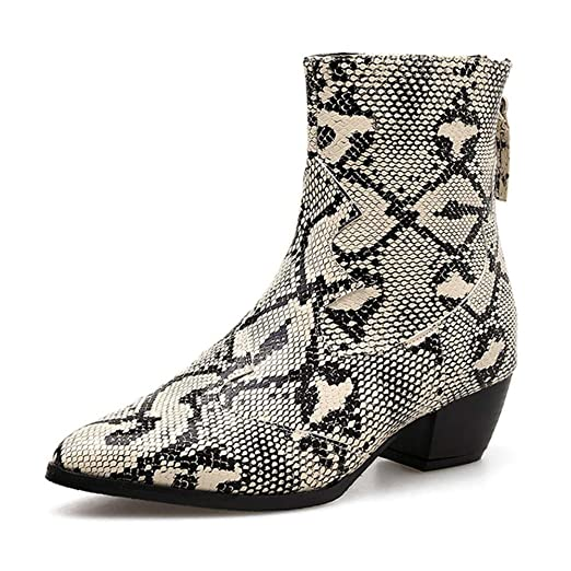 Amazon.com  Anshinto Women Snakeskin Paisley Martin Boot fb51b7b8051c