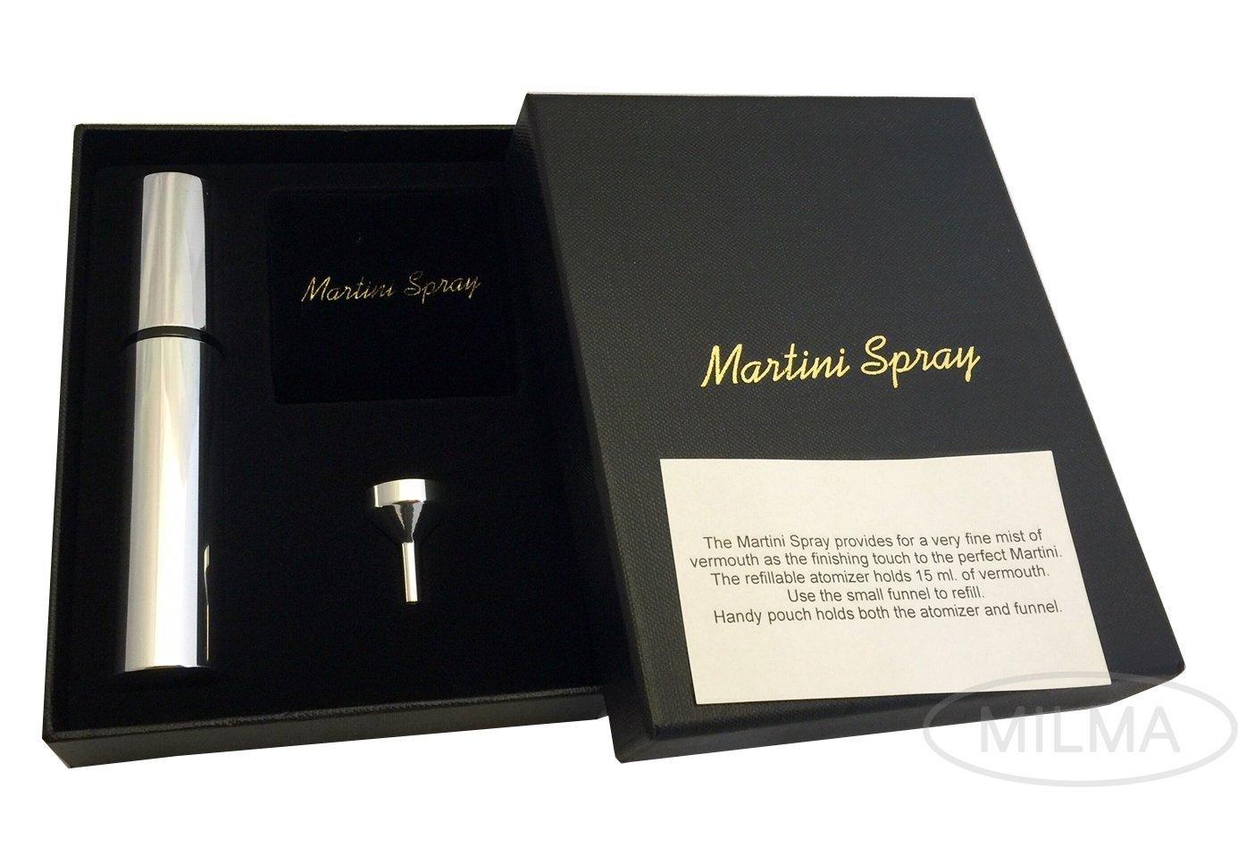 Franmara Martini Atomizer Gift Set, SS Martini Mister, Dry Martini Vermouth Spray Sprayer