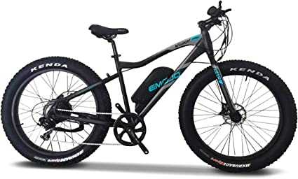 D/&K USA Wildcat Electric Bike Mountain 26 inch Fat Tire Electric Power Bicycle Blue with 500W Motor and Removable 48V 10.4AH Lithium Battery