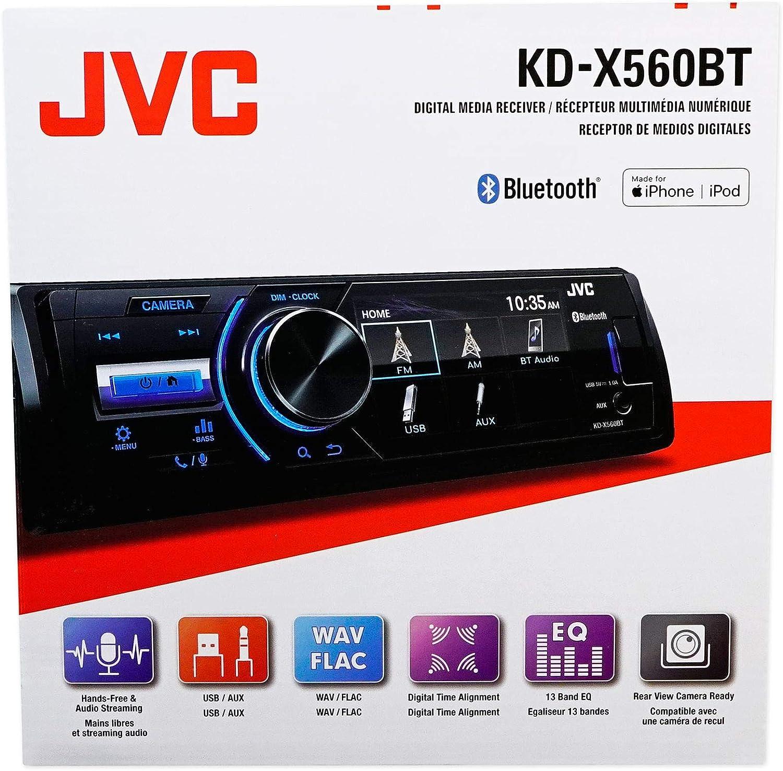 JVC KD-X560BT Digital Media Marine Bluetooth Receiver W//USB//AUX+Wired Remote