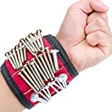 Magnetic Wristband, HiMart Magnetic Screw Holder With Strong Magnets for Holding Tools, Screws, Nails, Bolts, Drilling Bits and Small tools, Best Tool for DIY, Home Projects, Auto Repair (3 Grids)