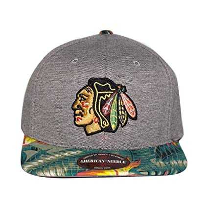 3c4ee49c80b NHL American Needle Limited Edition Palm Floral Pattern Adjustable Hat (Chicago  Blackhawks)