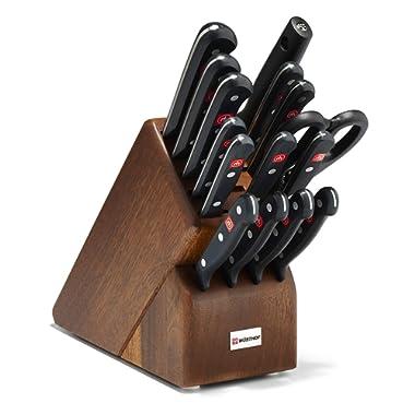 Wusthof Gourmet 16-Piece Knife Block Set - Walnut