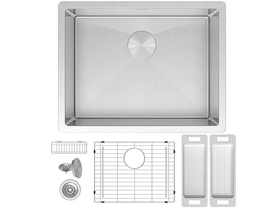 Amazon.com: Fregadero de cocina de acero inoxidable calibre ...